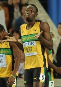 Усейн Болт - чемпион мира, рекордсмен мира на 100м, 200м.