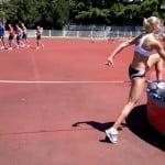 Тренировка Дарьи Клишиной