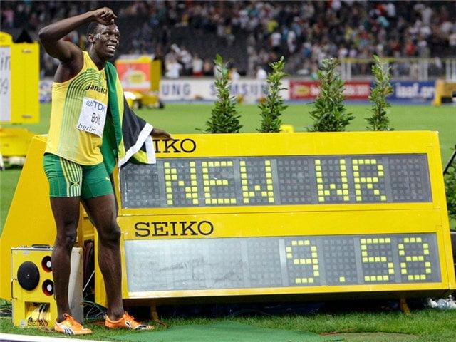 Мировой рекорд на 100м Усэйна Болта, Усейн Болт