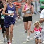 Пола Рэдклифф пробежала 10км на 7 мес. беременности и дочка Исла,3 года