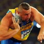 Толкание ядра фото, Олимпийский чемпион фото, легкая атлетика