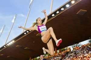 Дарья Клишина - чемпионка мира, прыжки, легкая атлетика