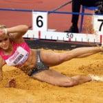 Дарья Клишина-прыжки в длину, легкая атлетика