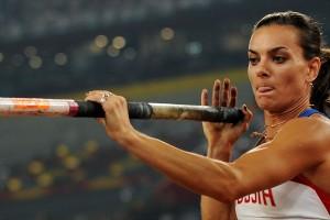 Чемпионка Олимпийских игор Елена Исинбаева фото