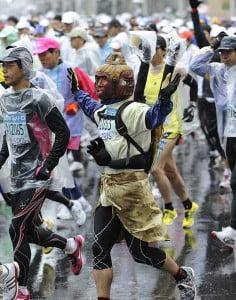 марафонский бег, марафонцы с японии, легкая атлетика