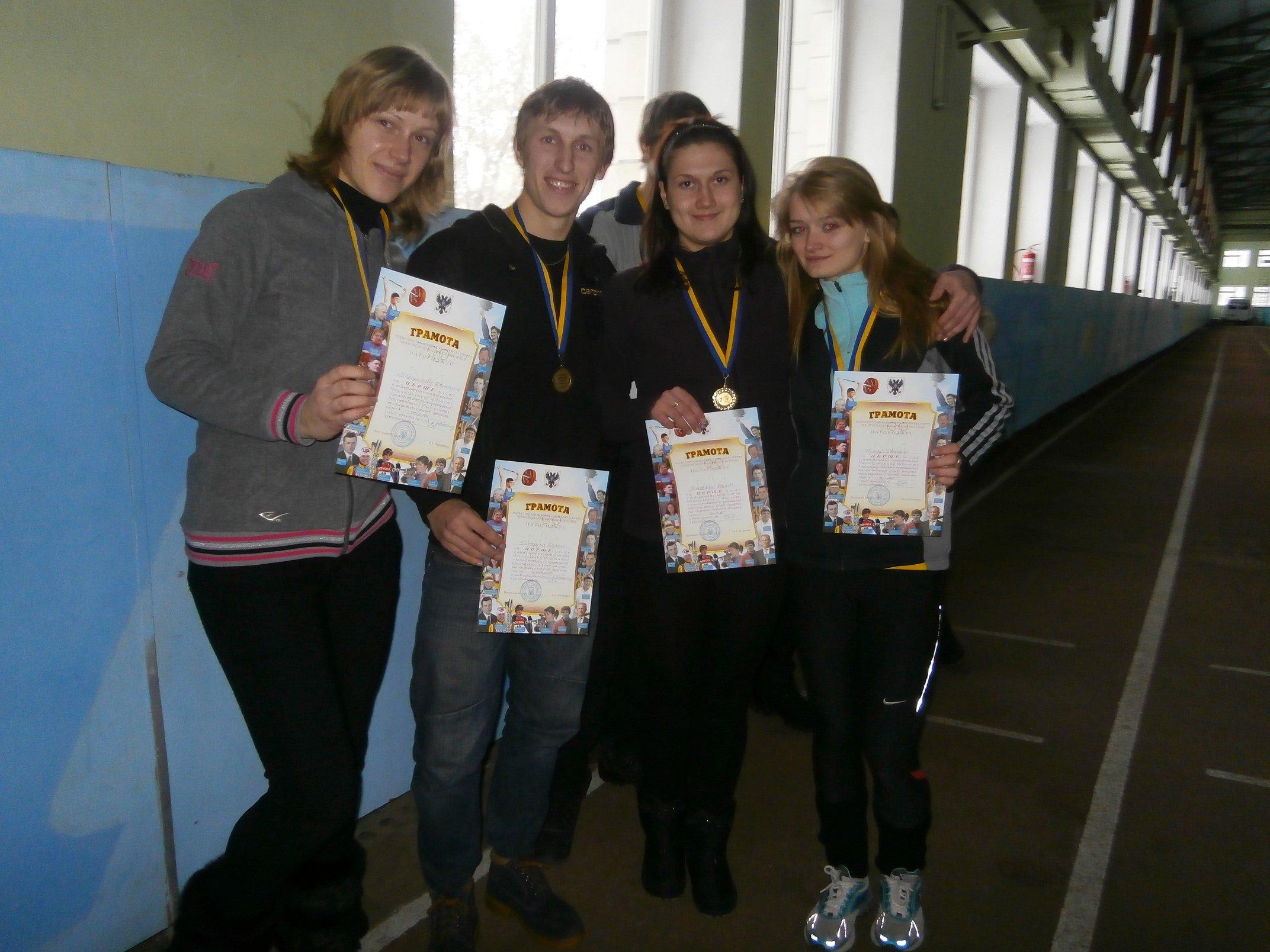 Победители Чемпионата области по легкой атлетике