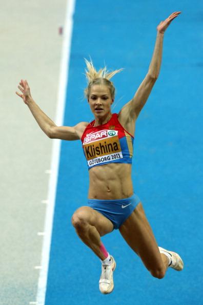 Дарья Клишина - показала лучший в мире результат в прыжках в длину