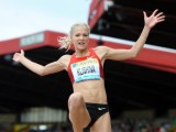 Russia's Darya Klishina takes part in th