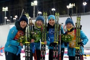 Олимпийские Чемпионки в эстафете, биатлон